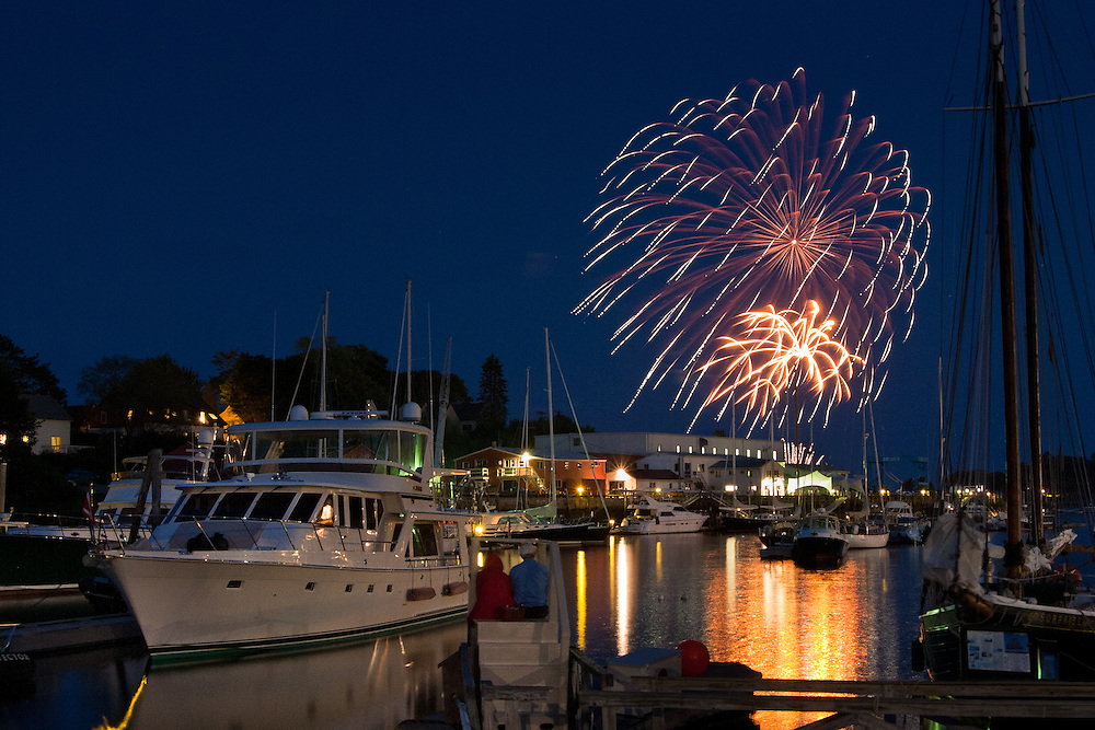 4th of July Fireworks in Camden Harbor, Maine