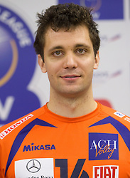 Matej Vidic at press conference of volleyball club ACH Volley before new season 2010/2011, on November 5, 2010, in Ljubljana, Slovenia. (Photo by Vid Ponikvar / Sportida)