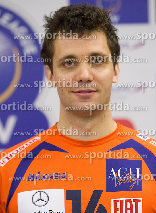 Matej Vidic at press conference of volleyball club ACH Volley before new season 2010/2011, on November 5, 2010, in Ljubljana, Slovenia. (Photo by Vid Ponikvar / Sportida)