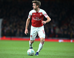 December 19, 2018 - London, England, United Kingdom - London, UK, 19 December, 2018.Nacho Monreal  of Arsenal of Arsenal.during Carabao Cup Quarter - Final between Arsenal and Tottenham Hotspur  at Emirates stadium , London, England on 19 Dec 2018. (Credit Image: © Action Foto Sport/NurPhoto via ZUMA Press)