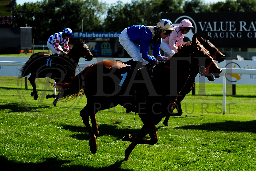 Wild Dancer ridden by William Carver and trained by Patrick Chamings in the Sds Intellistorm Handicap race. Amberine ridden by Ryan Tate and trained by Malcolm Saunders in the Sds Intellistorm Handicap race.  - Ryan Hiscott/JMP - 14/09/2019 - PR - Bath Racecourse - Bath, England - Race Meeting at Bath Racecourse