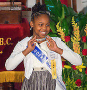 Jacovia Young of Windsor Village Elementary School performs during the Martin Luther King, Jr. Oratory Competition at Antioch Missionary Baptist Church, January 17, 2014.