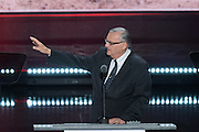 Sheriff Joe Arpaio addresses delegates on the final day of the Republican National Convention July 21, 2016 in Cleveland, Ohio.