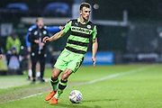 Forest Green Rovers Christian Doidge(9) during the EFL Sky Bet League 2 match between Yeovil Town and Forest Green Rovers at Huish Park, Yeovil, England on 24 April 2018. Picture by Shane Healey.