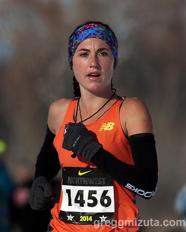 Makena Morley, NXN Northwest girls championship race, November 15, 2014 at Eagle Island State Park, Eagle, Idaho.