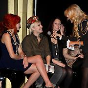 NLD/Amsterdam/20100215 -  inloop verkiezing Miss i Love Fashion, Christina Curry, Victoria Koblenko en Josh Veldhuizen