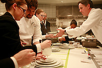 in the kitchen of Per Se, the restaurant of Chef Thomas Keller, NY in the kitchen of Per Se, in New York, Chef Thomas Keller
