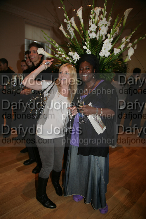 "Michelle Collins and Sharone D. Clarke, Bell and Langlands ""Superactivei2i"" Somersett House. London. 6 September 2007. .-DO NOT ARCHIVE-© Copyright Photograph by Dafydd Jones. 248 Clapham Rd. London SW9 0PZ. Tel 0207 820 0771. www.dafjones.com."
