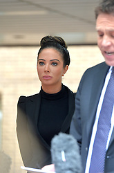 Former X Factor judge Tulisa Contostavlos legal team make a statement to press after she leaves Southwark Crown Court in connection with a class-a drugs charge.<br /> Tuesday, 22nd April 2014. Picture by Ben Stevens / i-Images