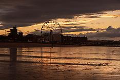 Portobello Ferris Wheel Sunset, Edinburgh, 21 August 2020