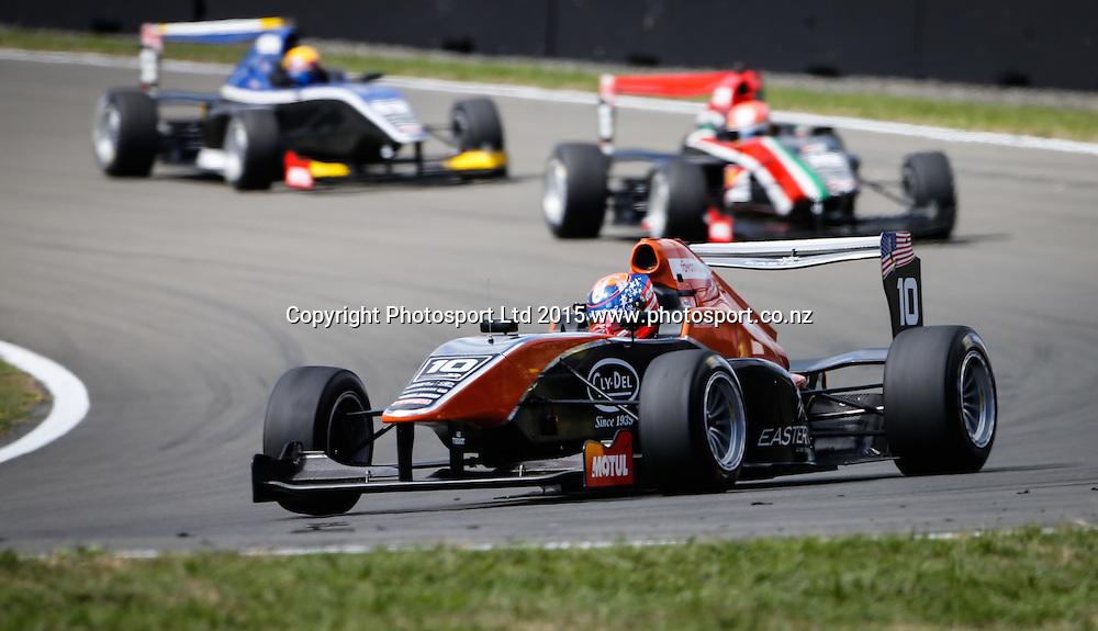 Santino Ferrucci in action. Toyota Racing Series, Manfeild Motorsport Park, Feidling, New Zealand. Sunday, 15 February, 2015. Photo: John Cowpland / www.photosport.co.nz