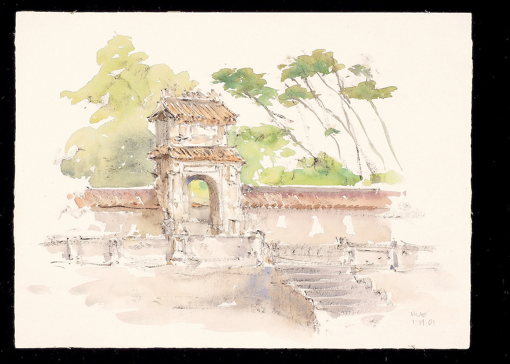 16319Fred Harris Watercolor paintings from Asia: Copy Photos