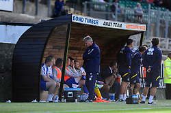A dejected Bristol Rovers Manager, John Ward turns away as his team go on to lose 1 - 0  - Photo mandatory by-line: Dougie Allward/JMP - Tel: Mobile: 07966 386802 07/09/2013 - SPORT - FOOTBALL -  Home Park - Plymouth - Plymouth Argyle V Bristol Rovers - Sky Bet League Two