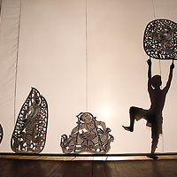 Shadow puppet show, Phnom Penh Cambodia
