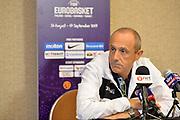 Ettore Messina<br /> Nazionale Italiana Maschile Senior<br /> Eurobasket2017<br /> Conferenza Stampa<br /> FIP 2017<br /> Telaviv 30/08/2017<br /> Foto Ciamillo - Castoria/ M.Longo