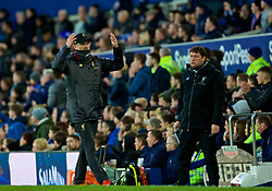 LIVERPOOL, ENGLAND - Sunday, March 3, 2019: Liverpool's manager Jürgen Klopp reacts during the FA Premier League match between Everton FC and Liverpool FC, the 233rd Merseyside Derby, at Goodison Park. (Pic by Laura Malkin/Propaganda)