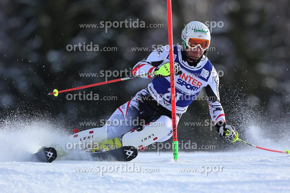 06.01.2014, Stelvio, Bormio, ITA, FIS Weltcup Ski Alpin, Bormio, Slalom, Herren, im Bild Manfred Pranger // Manfred Pranger  in action during mens Slalom of the Bormio FIS Ski World Cup at the Stelvio in Bormio, Italy on 2014/01/06. EXPA Pictures © 2014, PhotoCredit: EXPA/ Sammy Minkoff<br /> <br /> *****ATTENTION - OUT of GER*****