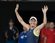 CAROLINE WOZNIACKI (DEN)<br /> <br /> Tennis - Australian Open 2018 - Grand Slam / ATP / WTA -  Melbourne  Park - Melbourne - Victoria - Australia  - 27 January 2018.