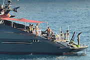 IBIZA, SPAIN, 2016, JUNE 03 <br /> <br /> Cristiano Ronaldo hurries his last day vacation in Ibiza before traveling to France to compete in the tournament. The consecrated footballer has enjoyed their days accompanied by several of her friends in their magnificent yacht. The Real Madrid striker has found the ideal way to relax for a few days before playing Euro<br /> ©Exclusivepix Media