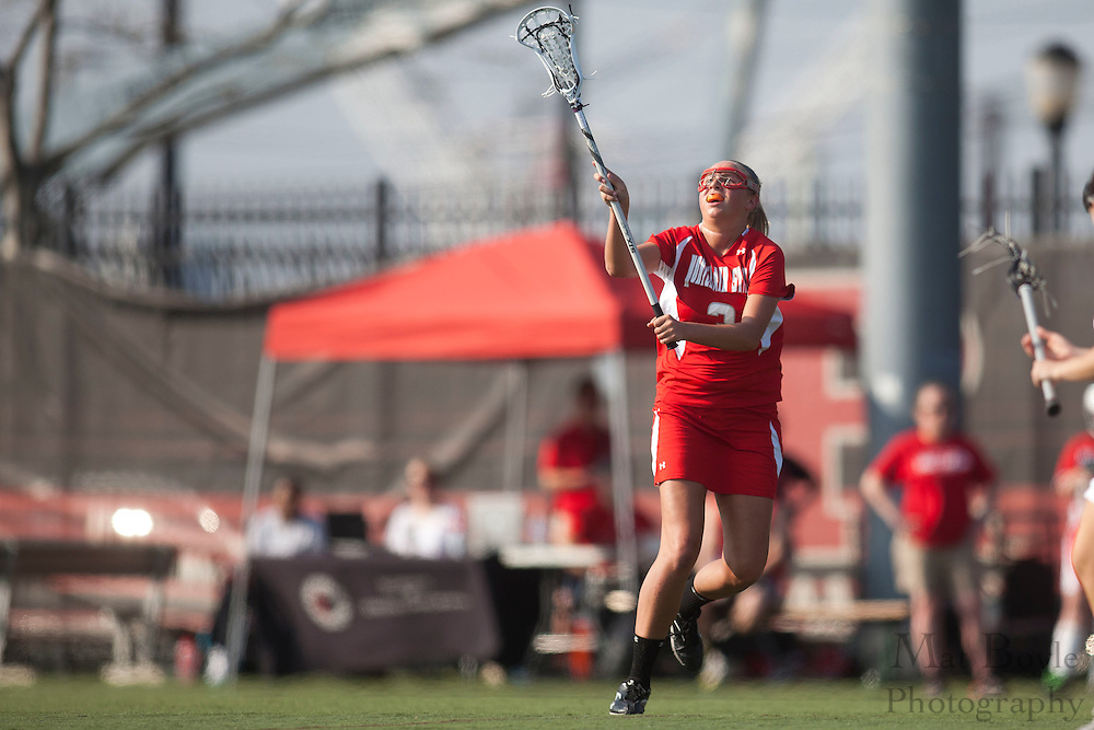 Montclair State Univeristy Lacrosse Sophomore Kelly Schoneveld (3); Rutgers-Camden Lacrosse against Montclair State University  on Wednesday March 21, 2012. (photo / Mat Boyle)