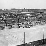 The #18 Studebaker Special in in the pits at the 1932 Indianapolis 500.