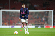 Arsenal forward Danny Welbeck (23) warms up prior to the Europa League group stage match between Arsenal and FC Voskla Potlava at the Emirates Stadium, London, England on 20 September 2018.