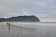 Razor Clamming, Seaside, Oregon, USA