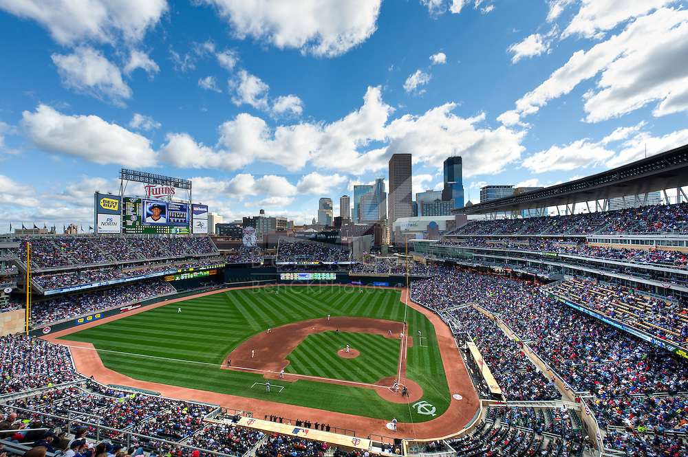 [Note:  This photo is an HDR compilation of 5 different exposures that were merged during post-processing.]  A general view of Target Field during a game between the Toronto Blue Jays and the Minnesota Twins on October 2, 2010 in Minneapolis, Minnesota.