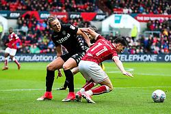 Callum O'Dowda of Bristol City is challenged by Luke Ayling of Leeds United - Rogan/JMP - 21/10/2017 - Ashton Gate Stadium - Bristol, England - Bristol City v Leeds United - Sky Bet Championship.