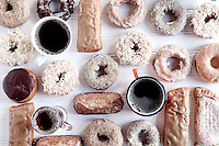 A selection of donuts from St. Louis, MO. bakeries for Feast Magazine.