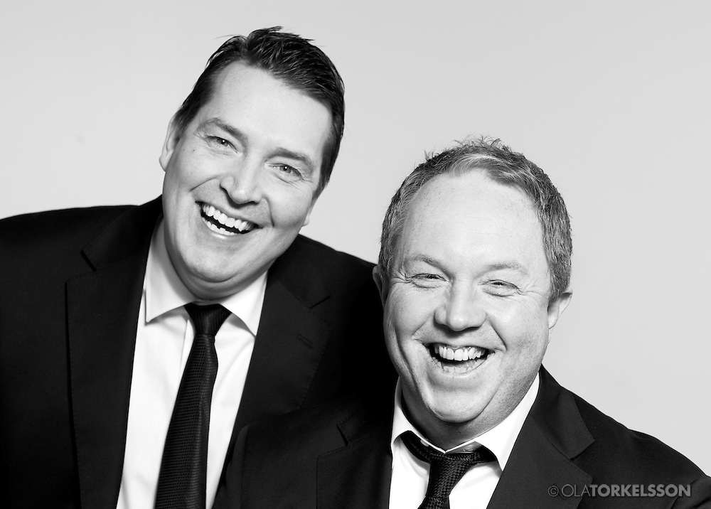 The comedians Anders Jansson och Johan Wester from Hipp Hipp-<br />