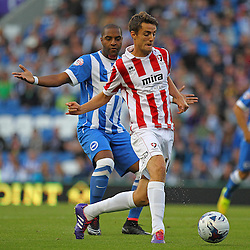 Cheltenham Town's Joe Hanks with possession during the English Capital One Cup 1st Round between Brighton & Hove Albion FC and Cheltenham Town FC at the American Express Community Stadium, Brighton, 12th August 2014 © Phil Duncan | SportPix.org.uk