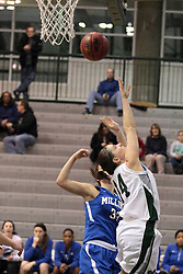 15 January 2014:  Colleen McMahon during an NCAA women's division 3 basketball game between the Millikin Big Blue and the Illinois Wesleyan Titans in Shirk Center, Bloomington IL
