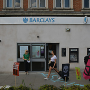 Extinction Rebellion  - Take 2 protest against Barclays invested more than £30 billion in fossil fuel projects at Walthamstow, on 25 th May 2019, London, UK