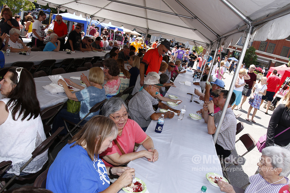Strawberry Festival activities in downtown Kokomo, Indiana.
