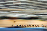 INVERCARGILL, NEW ZEALAND - NOVEMBER 17:  Competitors race in the men's omnium scratch race during the 2013 UCI Festival of Speed at SIT Zerofees Velodrome on November 17, 2013 in Invercargill, New Zealand.  (Photo by Hagen Hopkins/Getty Images)