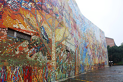 November 19, 2018 - Chongqing, Chongqing, China - Chongqing, CHINA-The rich wall colors in Luo Zhongli Art Museum have attracted quite a few citizens to take photos there in southwest China's Chongqing. (Credit Image: © SIPA Asia via ZUMA Wire)