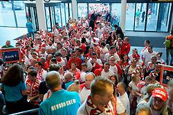 21-09-2019 NED: EC Volleyball 2019 Poland - Spain, Apeldoorn<br /> 1/8 final EC Volleyball / Polish fan, support