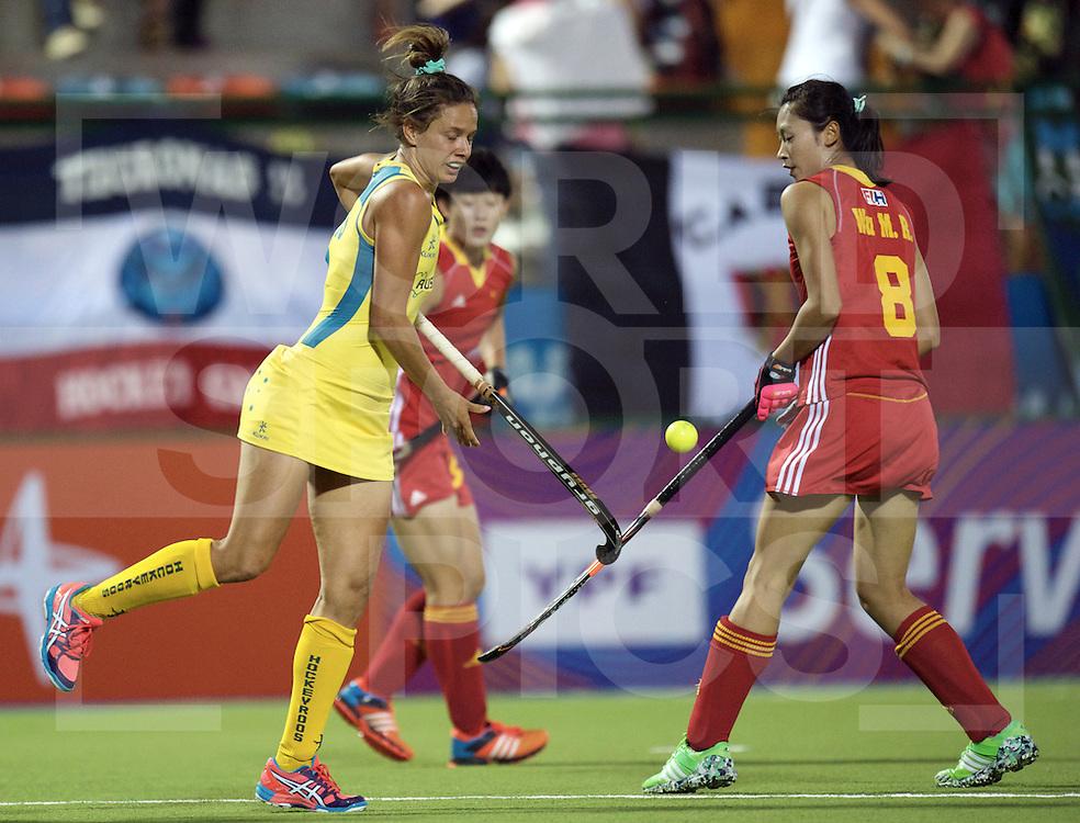 ROSARIO - Hockey World League Semi Final Women<br /> Australia v China.<br /> foto: Brooke Peris <br /> FFU PRESS AGENCY COPYRIGHT FRANK UIJLENBROEK