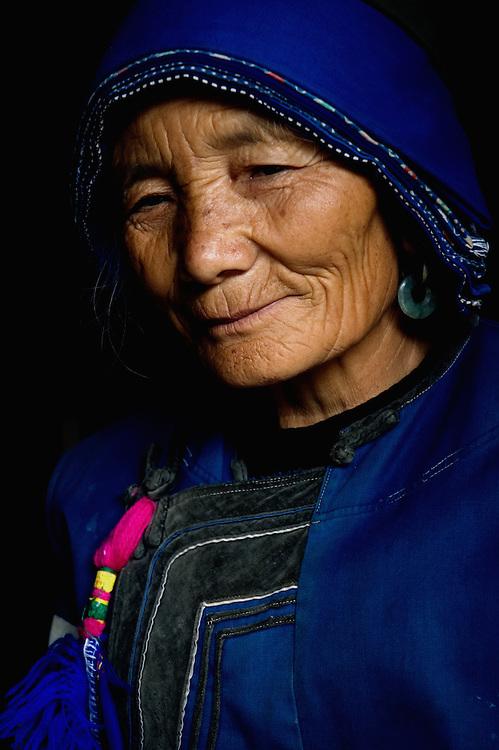 Portrait of Bai tribeswoman, Lijiang, Yunnan, China