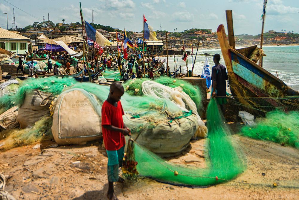Fishing Fleet near Elmina Castle