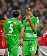 Christoph Kramer of Borussia Monchengladbach and Tobias Strobl of Borussia Monchengladbach during the Bundesliga match between Bayern Munich and Borussia Monchengladbach at the Allianz Arena, Munich, Germany on 22 October 2016. Photo by Bernd Feil/pixathlon.