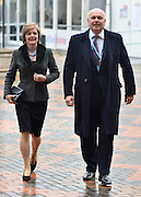 © Licensed to London News Pictures. 08/10/2012. Birmingham, UK Ian Duncan Smith, the Secretary of State for Work and Pensions arrives with his wife Betsy on the day of his conference speech at The Conservative Party Conference at the ICC today 8th October 2012. Photo credit : Stephen Simpson/LNP