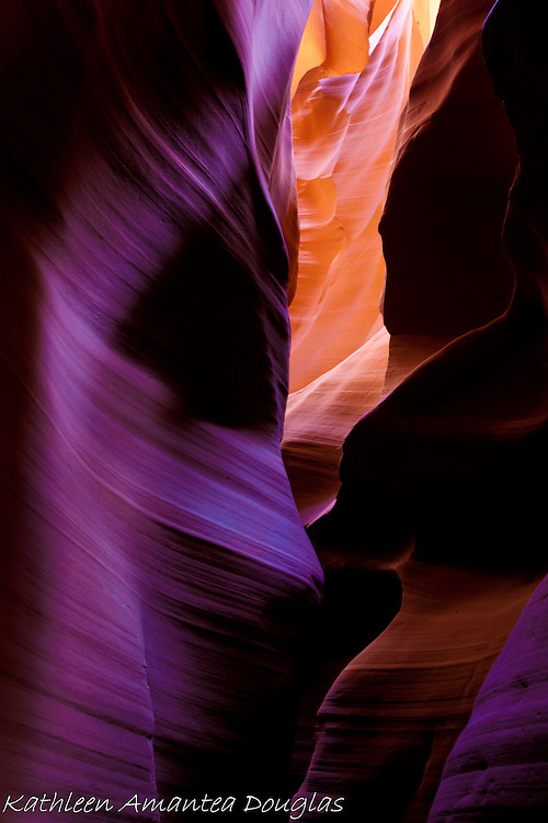 Fluted slots of Upper Antelope Canyon, Page Arizona.