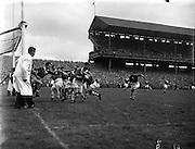 22/09/1957<br /> 09/22/1957<br /> 22 September 1957<br /> <br /> Louth vs Cork All Ireland Football Final<br /> <br /> <br /> Louth played Cork on 22 September 1957.  The attendance at the match was 72,732, the final score was Louth 1-9 Cork 1-7. This was their third and final All Ireland Final Win - the others having been in 1910 and 1912.