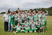 Fintry Shamrock celebrate their 2nd Division title win - Dundee Saturday Morning FA - Super Saturday at Dundee UNI<br /> <br />  - &copy; David Young - www.davidyoungphoto.co.uk - email: davidyoungphoto@gmail.com