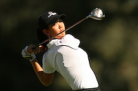 March 26, 2005; Rancho Mirage, CA, USA;  15 year old amateur Michelle Wie tees off at the 2nd hole during the 3rd round of the LPGA Kraft Nabisco golf tournament held at Mission Hills Country Club.  Wie shot a 1 over par 73 for the day and was tied for 21st at one over par 217.<br />Mandatory Credit: Photo by Darrell Miho <br />&copy; Copyright Darrell Miho