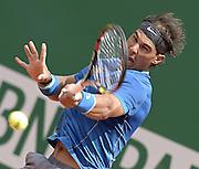 © Filippo Alfero<br /> Monte-Carlo Tennis Masters 2014<br /> Monaco, 16/04/2014<br /> sport tennis<br /> Nella foto: Rafael Nadal
