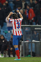 12.12.2012 SPAIN - Copa del Rey 12/13 Matchday 8th  match played between Atletico de Madrid vs Getafe C.F. (3-0) at Vicente Calderon stadium. The picture show Filipe Luis Karsmirski (Brazilian defender of At. Madrid)