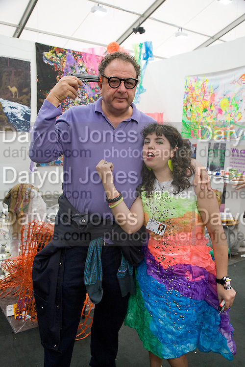 JOHNNY PIGOZZI; DANIELA LUNA, APPETITE; ARGENTINE GALLERY, Frieze Art Fair 2008. Regent's Park. London. 15 October 2008 *** Local Caption *** -DO NOT ARCHIVE -Copyright Photograph by Dafydd Jones. 248 Clapham Rd. London SW9 0PZ. Tel 0207 820 0771. www.dafjones.com